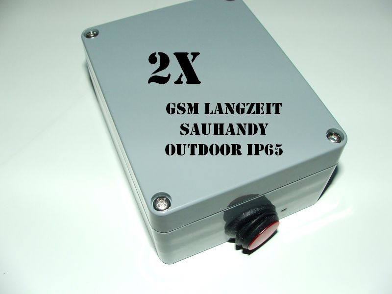 GSM Langzeit Sauhandy - Wilduhr (Outdoor IP65) 2er Set